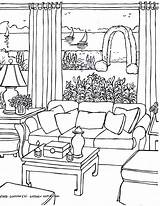 Coloring Pages Drawing Living Perspective Rooms Adults Point Drawings Adult Colouring Sheets Casa Christmas Getdrawings Para Draw Fredgonsowskigardenhome Adultos Colorir sketch template