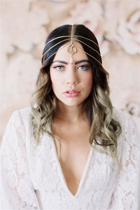 Gilded Bohemian Headpiece in Gold or Silver - Style #220 ...