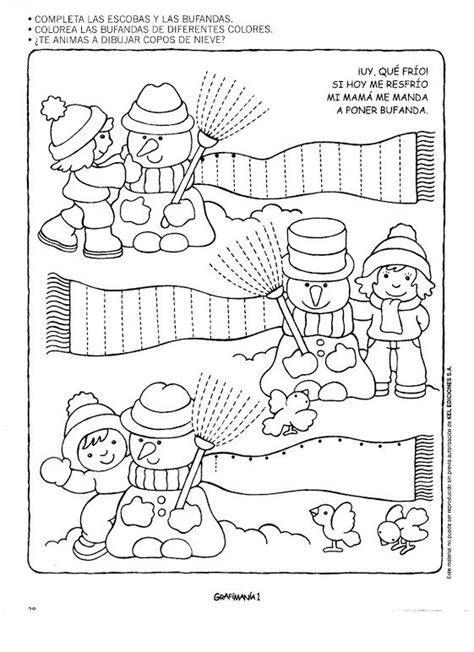 season worksheet crafts and worksheets for preschool 111 | free winter trace line worksheet for kids 6