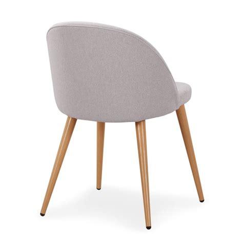 chaise lot de 4 chaise scandinave tissu gris lot de 4 pas cher