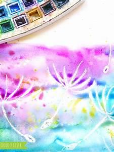 Malen Mit Kindern : wunderbare pusteblumen mit wasserfarben malen handmade kultur ~ Orissabook.com Haus und Dekorationen