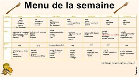 menu semaine cuisine az menu dietetique pour maigrir cuisinez pour maigrir