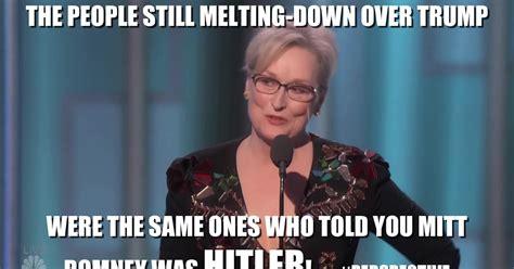 Meryl Streep Memes - undiepundit com meryl streep s golden melt down