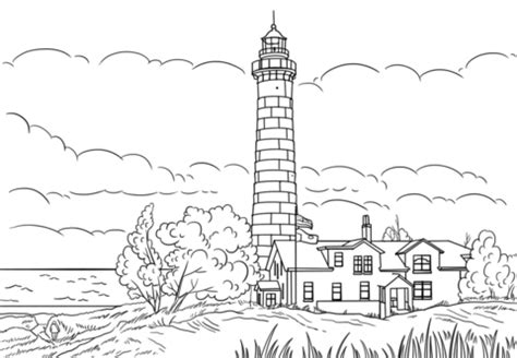 big sable point lighthouse ludington michigan coloring page  printable coloring pages