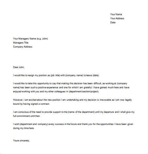 resignation letter template word 17 resignation letter exles pdf doc free