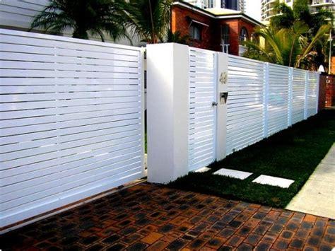 inspiring white aluminum fence ideas  designs