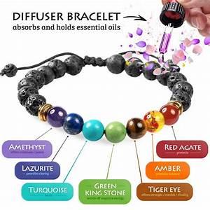 7 Chakra Lava Stone Diffuser Bracelet The Yoga Mandala Store