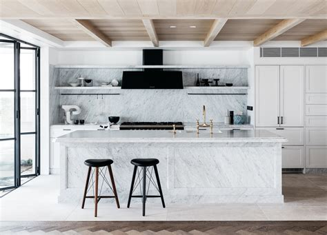 Kitchen Shelves Ideas Pinterest - room of the week a to die for marble kitchen coco kelley coco kelley