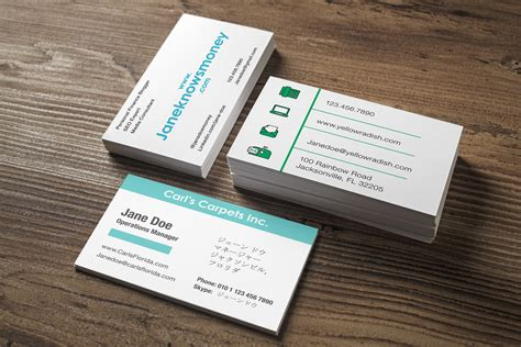 business card template     card  stands