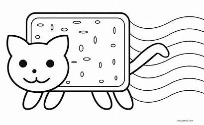 Coloring Cat Pages Nyan Printable