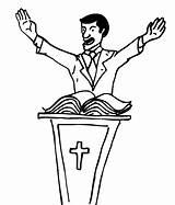 Preacher Church Coloring Flock Baptist sketch template