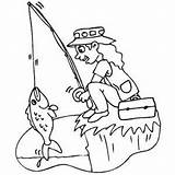 Fishing Cliff Coloring Sheet Safe Freecoloringsheets Water sketch template