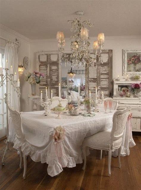 beautiful shabby chic dining room decoration ideas