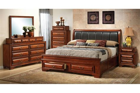 bedroom sets north coast cherry king size storage