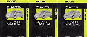 2008 Toyota Yaris Service Repair Shop Set Oem 2 Volume Set And The Electrical Wiring Diagrams