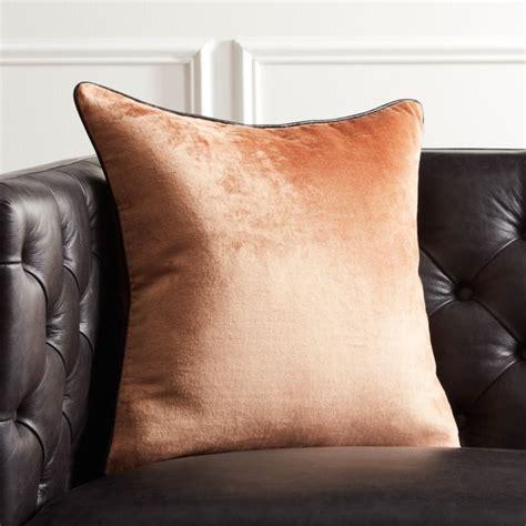 copper crushed velvet pillow cb