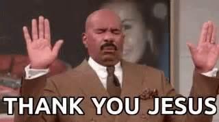 Thank You Jesus Meme - steve harvey thank you jesus gif steveharvey thankyoujesus grateful discover share gifs
