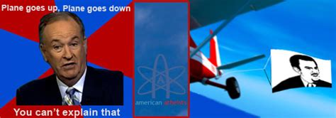 David Silverman Meme - plane goes up plane goes down american atheists are flying billboards july 4th