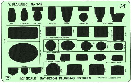 timely  bathroom plumbing template