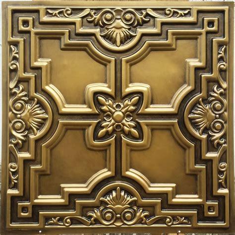 pl16 faux finish tin 3d antique brass ceiling tiles decor wall panels 10tile lot ebay
