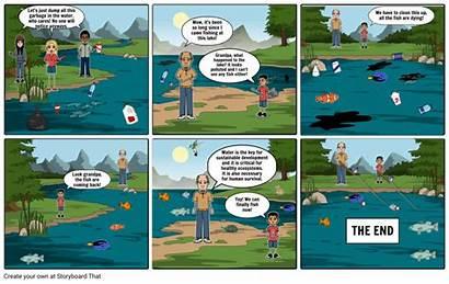 Pollution Comic Water Clipart Cartoon Grass Kissclipart