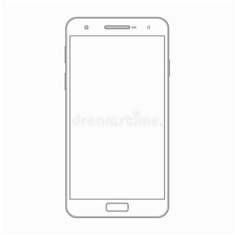 modern smartphone vector vector free vector smartphone outline template phone icon stock