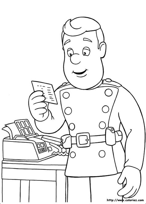 dessin bureau free coloring pages of fireman sam engine