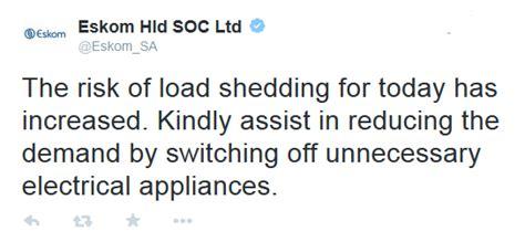 Load Shedding Risk Is High