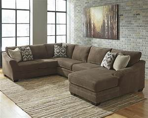 benchcraft justyna contemporary 3 piece sectional with With 3 piece sectional sofas with chaise