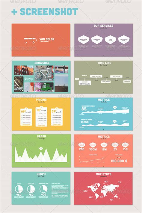 flat powerpoint  templates web graphic