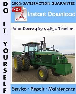 John Deere 4650  4850 Tractors Repair Technical Manual