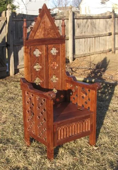 sca chairs thrones images  pinterest antique