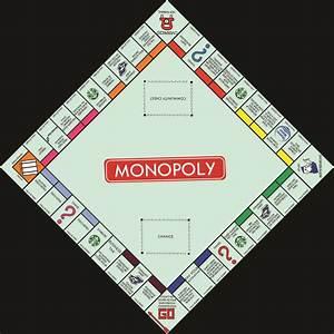 Monopoly Board Modernized  U2013 Smcdesign Creative