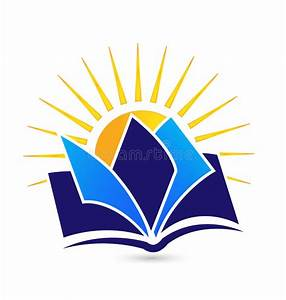Book and sun logo stock vector. Illustration of article ...