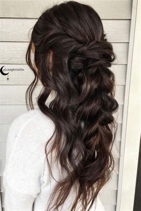 chic   bridesmaid hairstyles  long hair