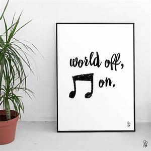 Schwarz Weiß Sprüche : plakat mit spruch in schwarz wei poster wandgestaltung musikfreunde bilderwand ~ Orissabook.com Haus und Dekorationen