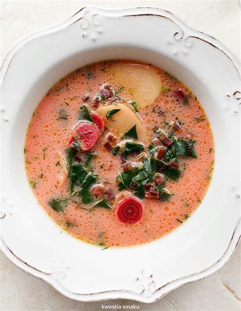 Zupa botwinka z ziemniakami i koperkiem | Culinary recipes ...