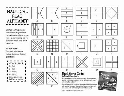 Nautical Alphabet Flags Flag Coloring Pages Code