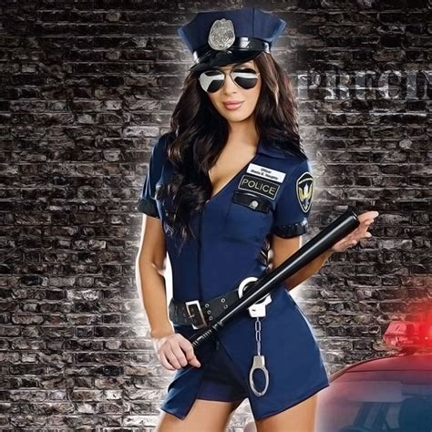 Women S Sexy Police Cop Officer Uniform Fancy Dresses Holiday Costumes Cosplay Women