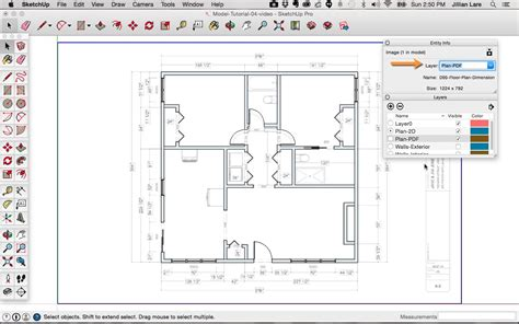 sketchup floor plan tutorial doors  windows