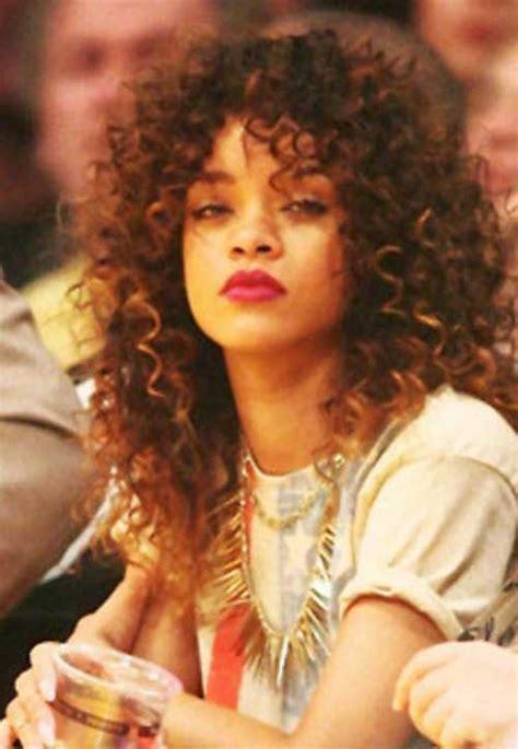 Rihanna Curly Hairstyle by 15 Rihanna Curly Hair Hairstyles Haircuts 2016