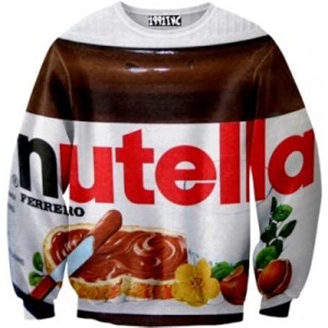sweater nutela objets insolites loufoques