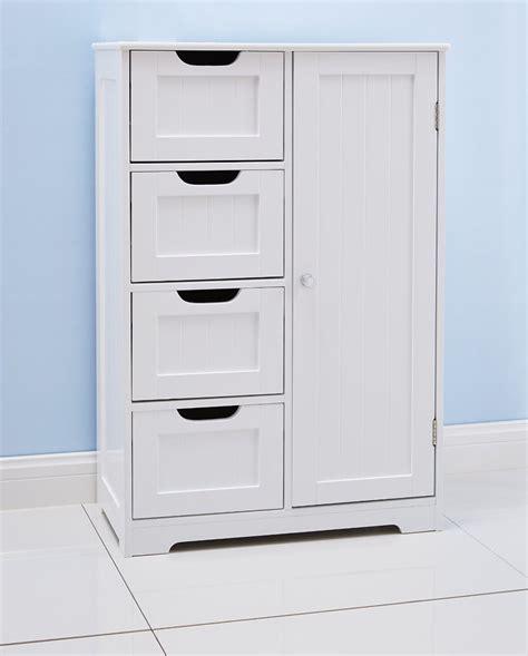 white bathroom floor cabinet freestanding   drawers