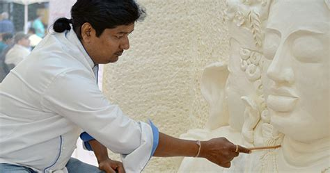 indian chef  record breaking margarine sculpture