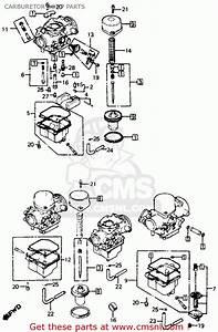 Honda Cb750f 750 Super Sport 1980  A  Usa Carburetor Comp