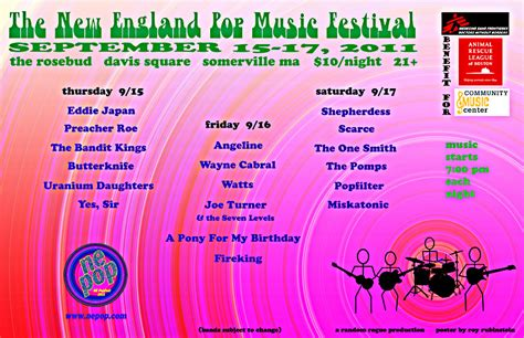 The brits make better pop music, it's just a fact. The New England Pop Music Festival