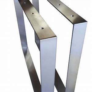 Design Tischbeine Table Legs Frame Brushed Stainless