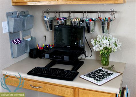 Organized Kitchen Office Makeover  Hometalk