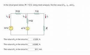 Consider The Circuit In The Diagram Below In Which R 13  U03c9