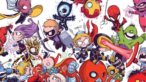 foto de New Skottie Young Lil Marvel SDCC Exclusive Pins are